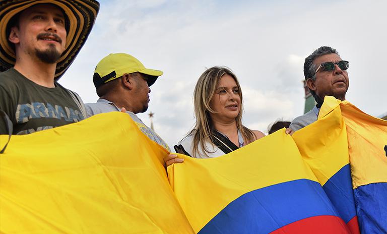 colombia vs chile en la copa américa fans