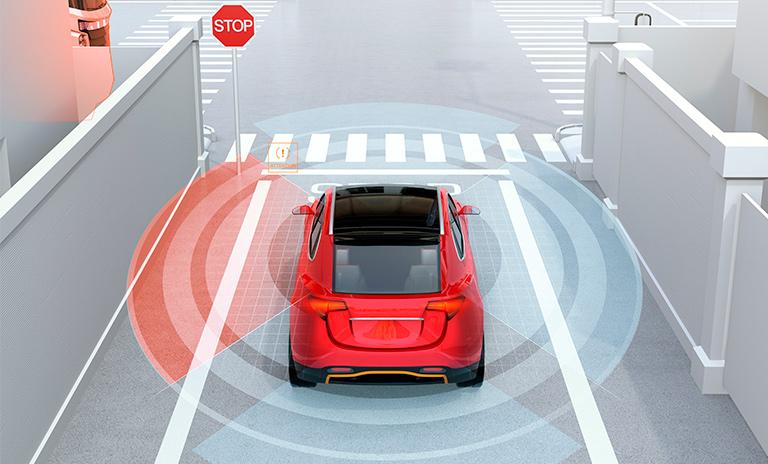 alerta de punto ciego en carro tecnológico