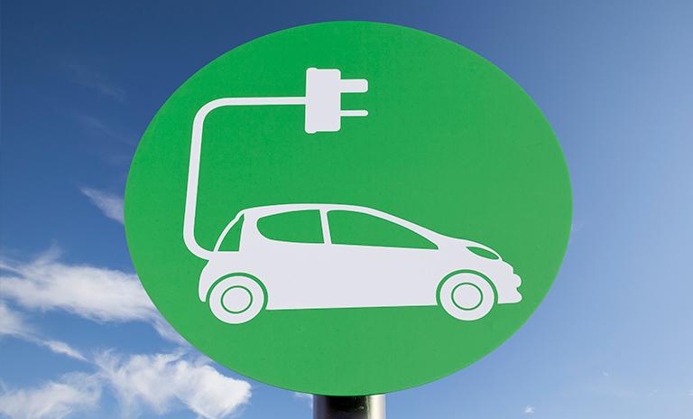 punto de carga para carros con motor eléctrico