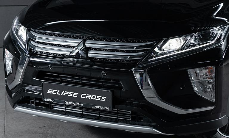 perfil delantero de la eclipse cross de Mitsubishi Motors