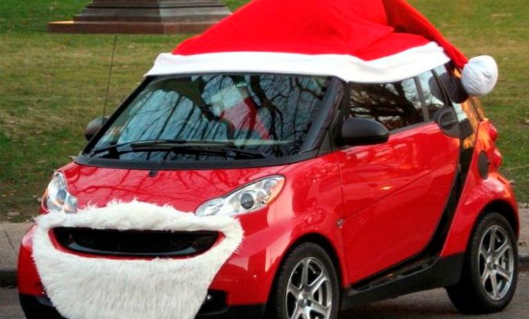 Decoración de navidad para camionetas Santaneta