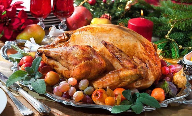 El pavo es una receta para navidad clásica en toda América