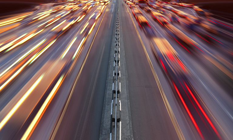 El tráfico típico de la operación retorno