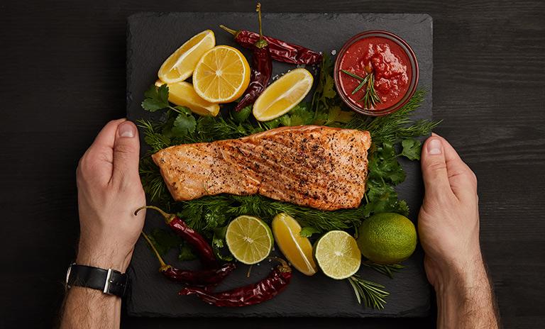 Una dieta con salmón par una alimentación saludable