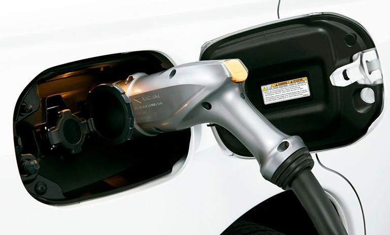 Punto de carga de los carros eléctricos