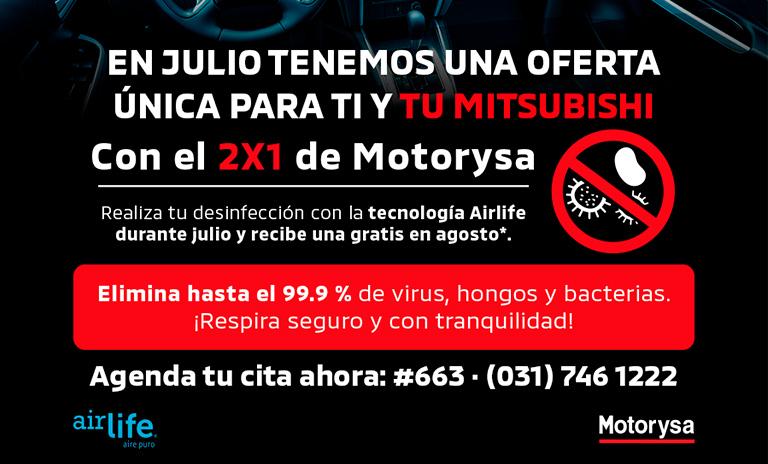 Promoción Mitsubishi para desinfectar camionetas