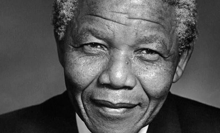 Foto del ex presidente Nelson Mandela