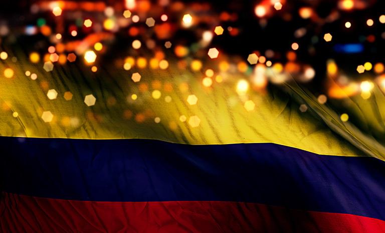 Bandera de Colombia para celebrar el 7 de agosto