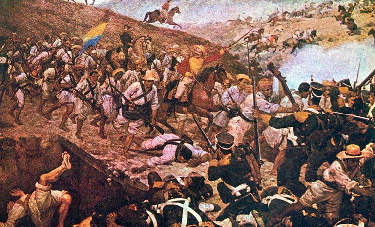 La Batalla de Boyacà por Martín Tovar y Tovar