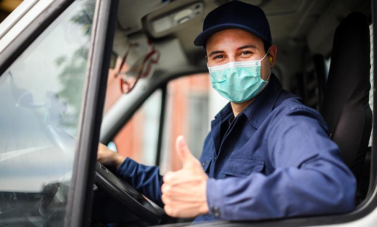 Conductor de camionetas de carga durante la nueva normalidad
