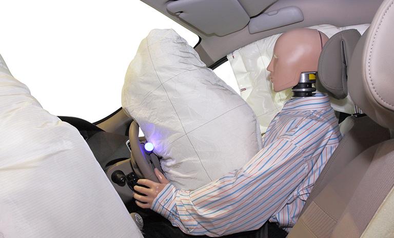 airbag en funcionamiento