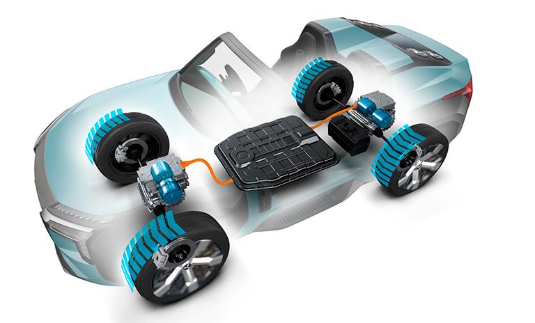 Motores eléctricos de las camionetas MI TECH Concept