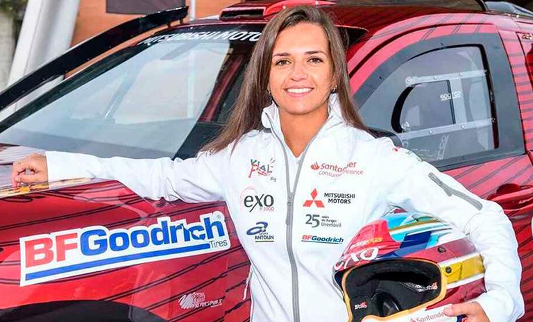 Cristina Gutierrez piloto de Mitsubishi Motors