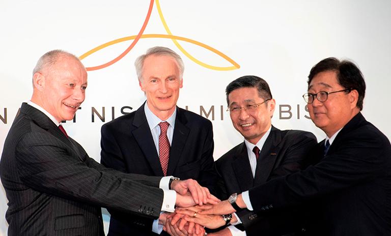 Directores de la nueva alianza entre Mitsubishi Renault y Nissan