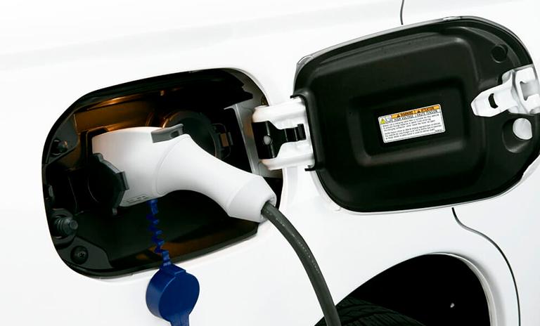 Punto de carga de los carros híbridos Outlander PHEV