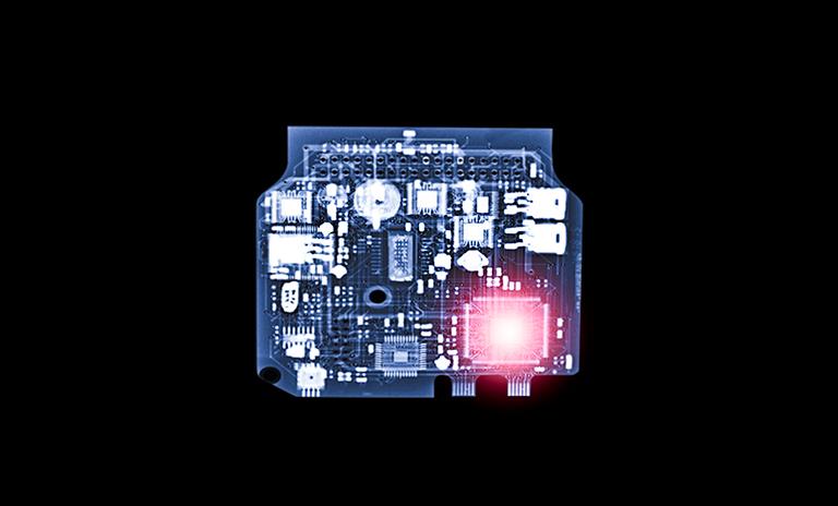 Rayos x del sistema eléctrico en un vehículo