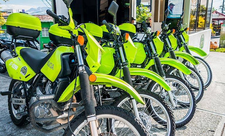 Motos de la policía nacional