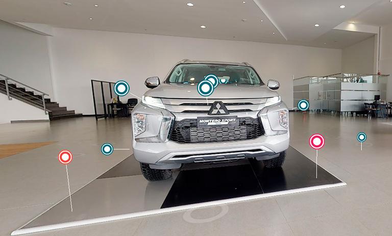 Vista exterior de Montero Sport en la Vitrina Virtual Mitsubishi